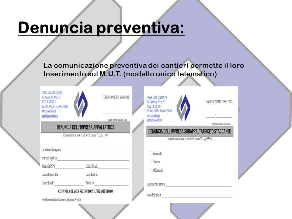 Denuncia preventiva: La comunicazione preventiva dei cantieri permette il loro.