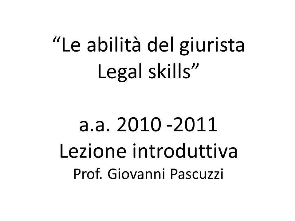 Giovanni Pascuzzi per Ordine Avvocati Trento