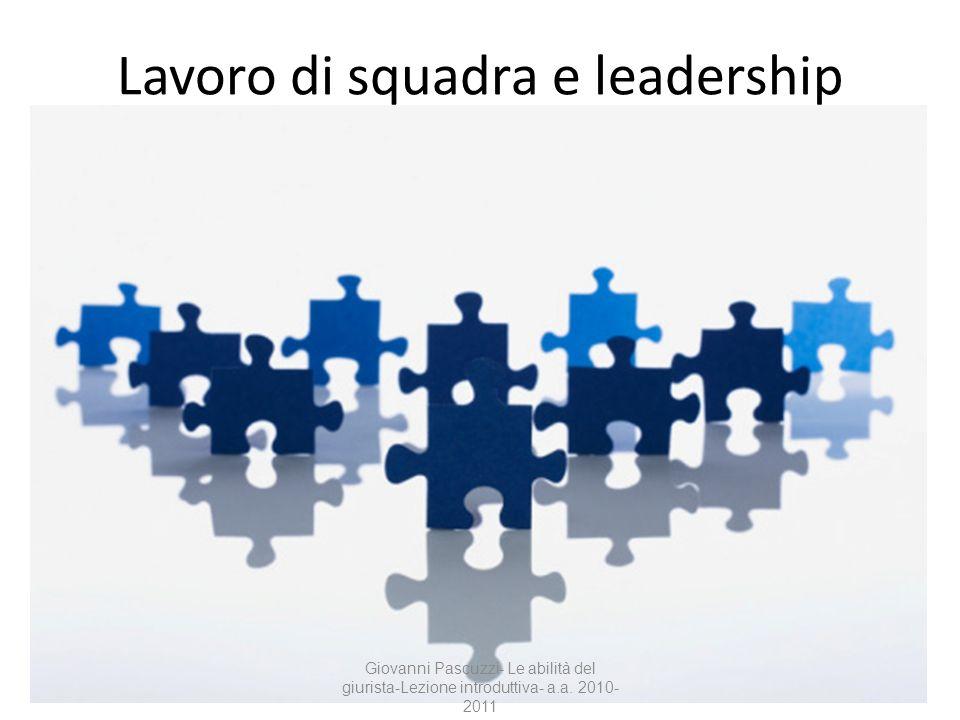 Lavoro di squadra e leadership