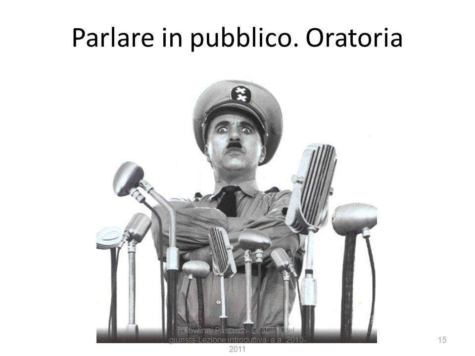 Parlare in pubblico. Oratoria