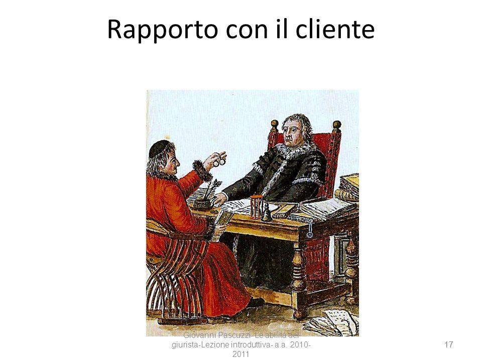 Rapporto con il cliente