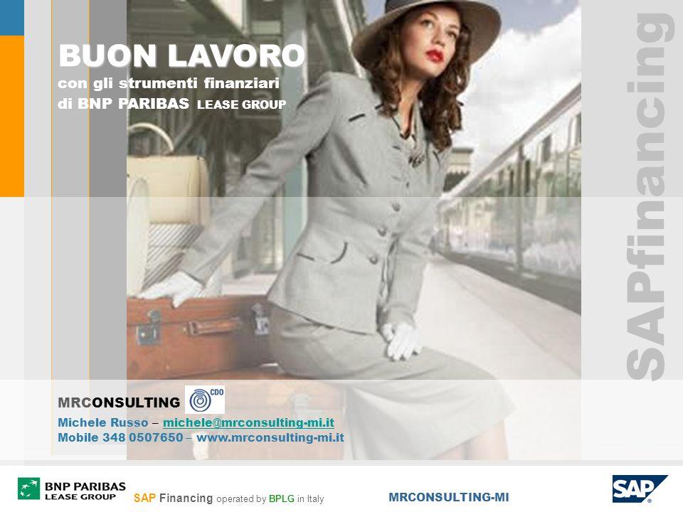 SAPfinancing BUON LAVORO con gli strumenti finanziari