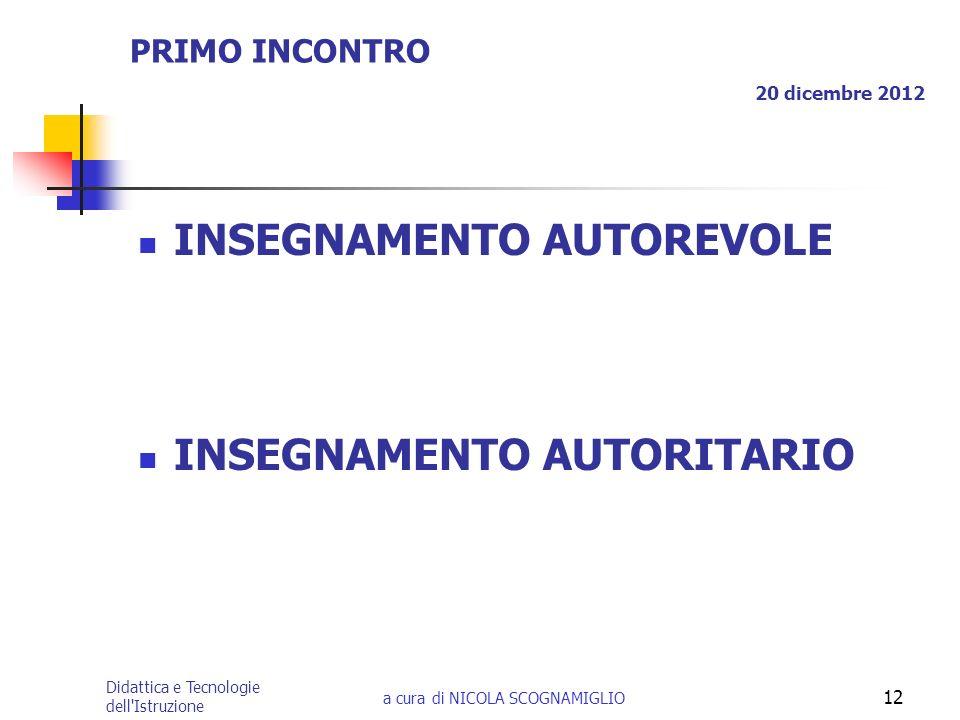 PRIMO INCONTRO 20 dicembre 2012