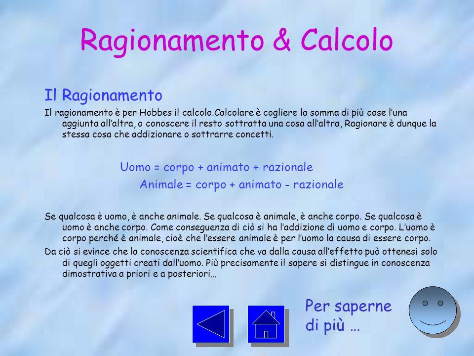 Ragionamento & Calcolo