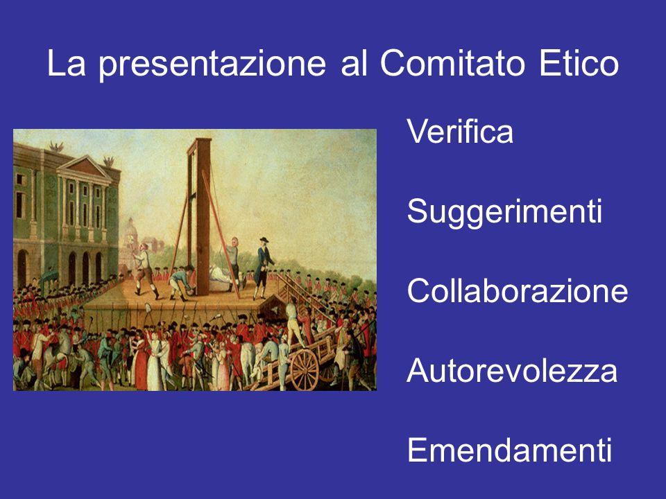 La presentazione al Comitato Etico