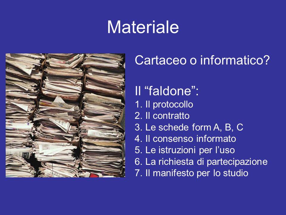 Materiale Cartaceo o informatico Il faldone : Il protocollo