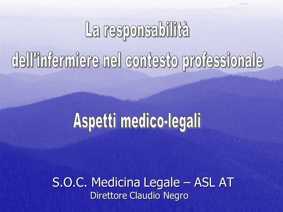 S.O.C. Medicina Legale – ASL AT Direttore Claudio Negro