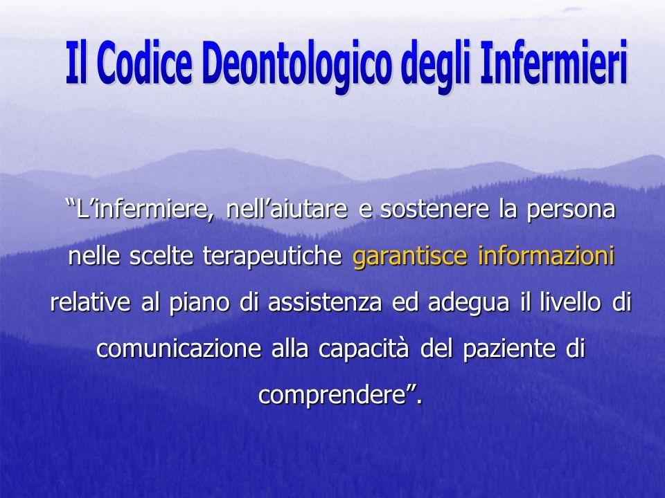 Il Codice Deontologico degli Infermieri