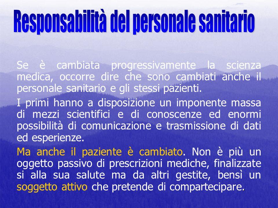 Responsabilità del personale sanitario