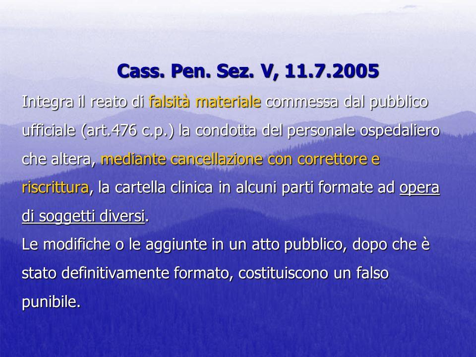 Cass. Pen. Sez.