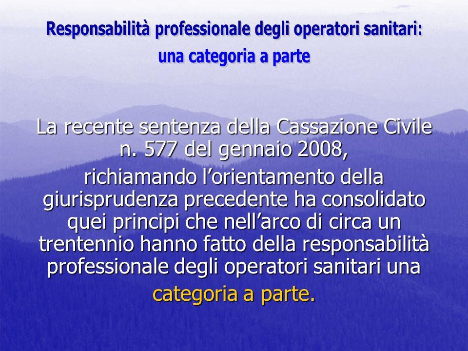 Responsabilità professionale degli operatori sanitari: