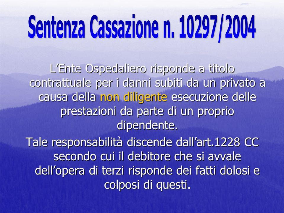 Sentenza Cassazione n. 10297/2004