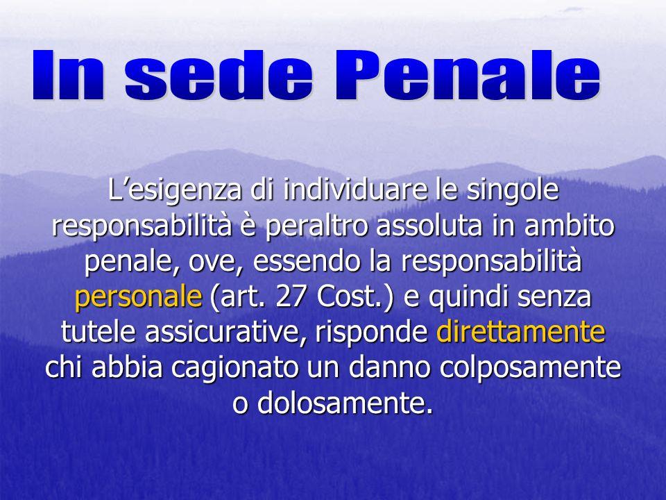 In sede Penale