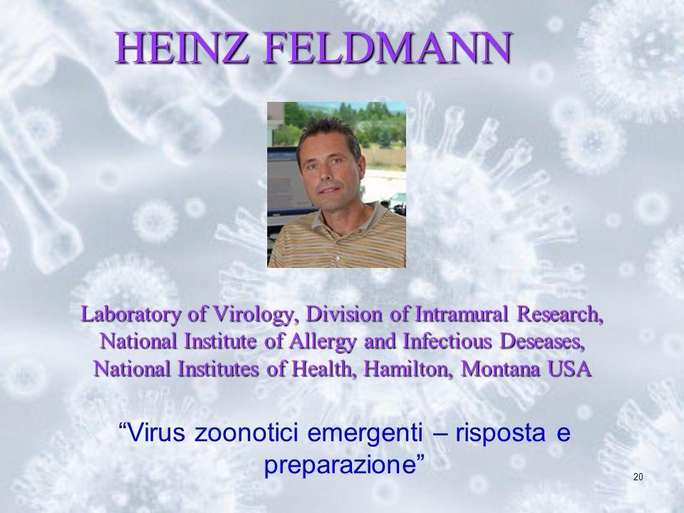 Virus zoonotici emergenti – risposta e preparazione