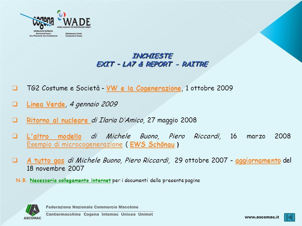 EXIT – LA7 & REPORT - RAITRE
