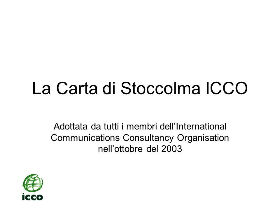 La Carta di Stoccolma ICCO