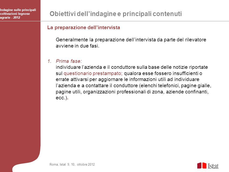 Obiettivi dell'indagine e principali contenuti