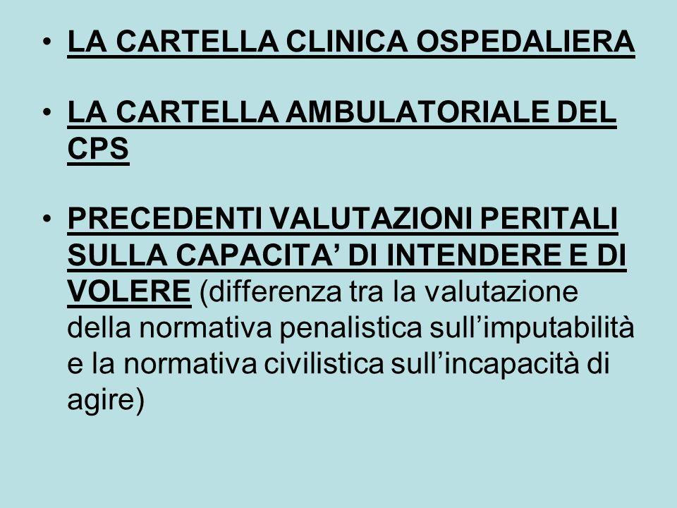 LA CARTELLA CLINICA OSPEDALIERA