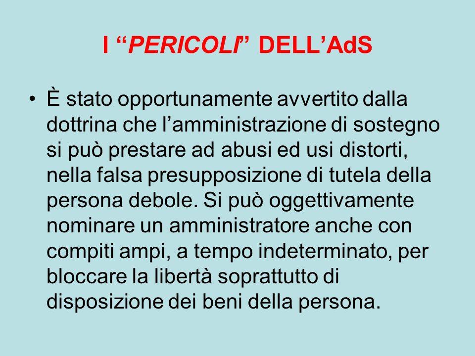 I PERICOLI DELL'AdS
