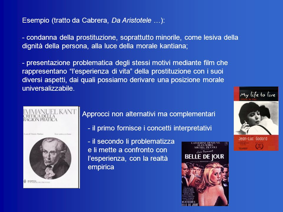 Esempio (tratto da Cabrera, Da Aristotele …):