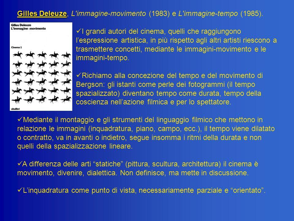 Gilles Deleuze, L immagine-movimento (1983) e L immagine-tempo (1985).
