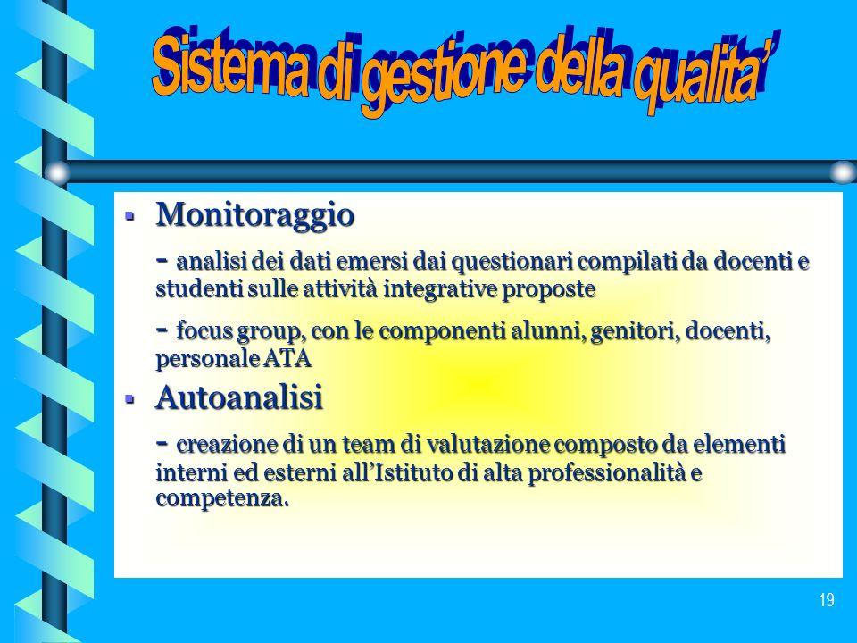 Sistema di gestione della qualita'