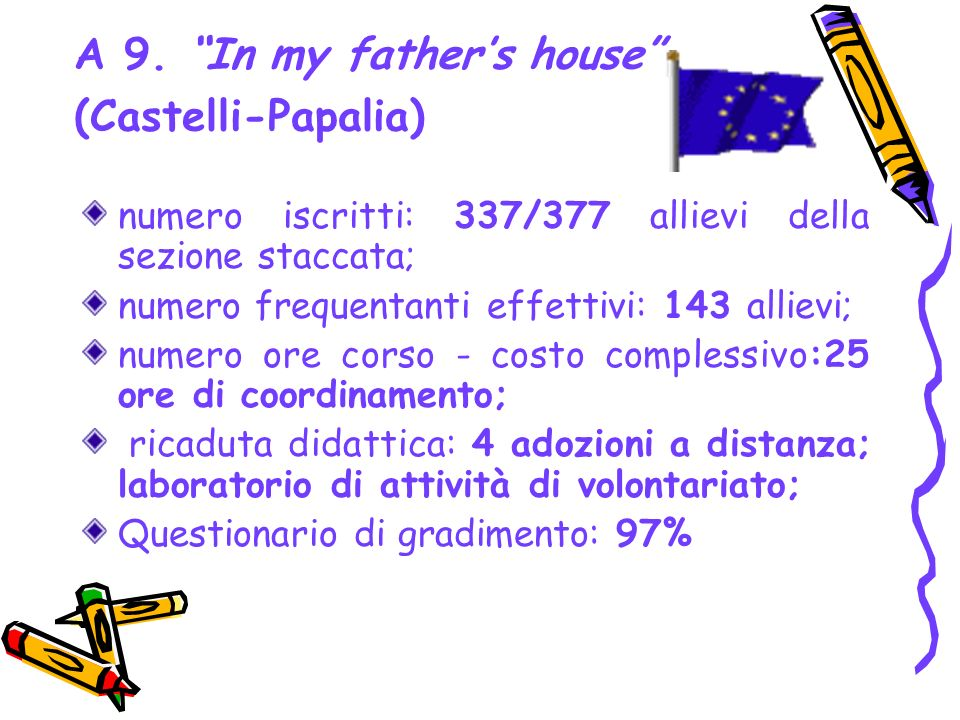 A 9. In my father's house (Castelli-Papalia)