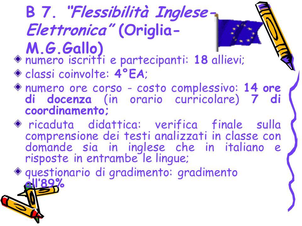 B 7. Flessibilità Inglese-Elettronica (Origlia-M.G.Gallo)