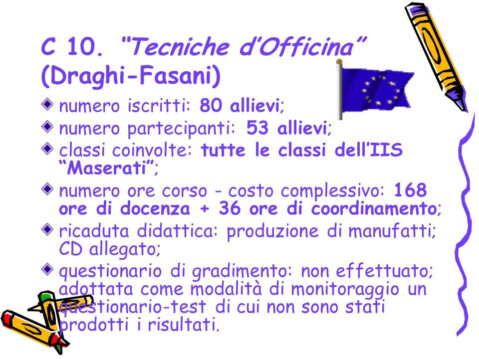 C 10. Tecniche d'Officina (Draghi-Fasani)