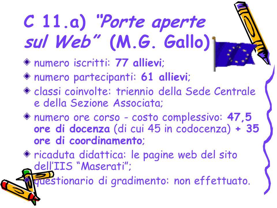 C 11.a) Porte aperte sul Web (M.G. Gallo)