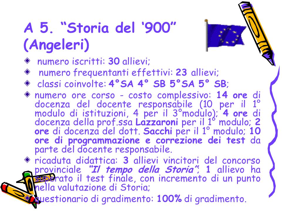 A 5. Storia del '900 (Angeleri)