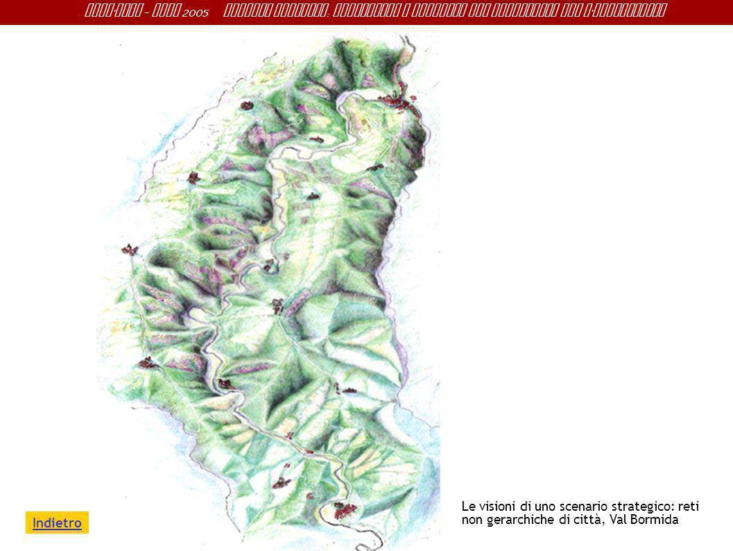 Le visioni di uno scenario strategico: reti non gerarchiche di città, Val Bormida