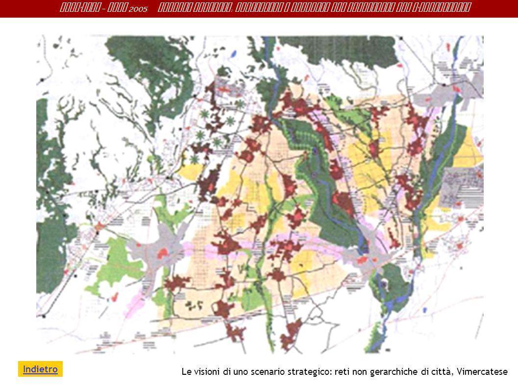 Indietro Le visioni di uno scenario strategico: reti non gerarchiche di città, Vimercatese