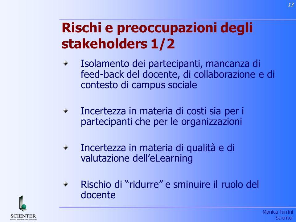Rischi e preoccupazioni degli stakeholders 1/2