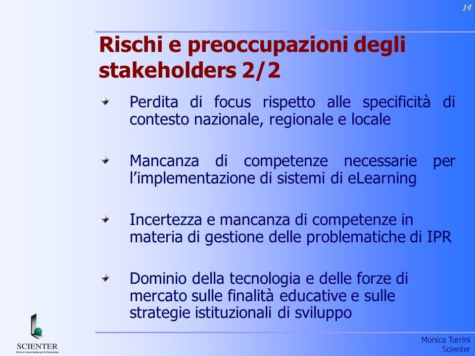 Rischi e preoccupazioni degli stakeholders 2/2