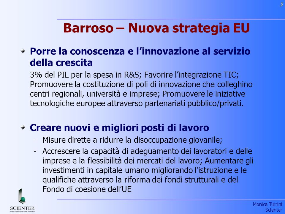 Barroso – Nuova strategia EU