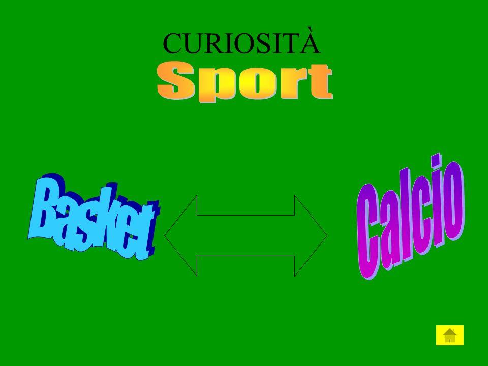 CURIOSITÀ Sport Calcio Basket