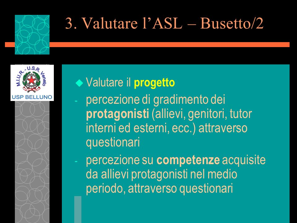 3. Valutare l'ASL – Busetto/2