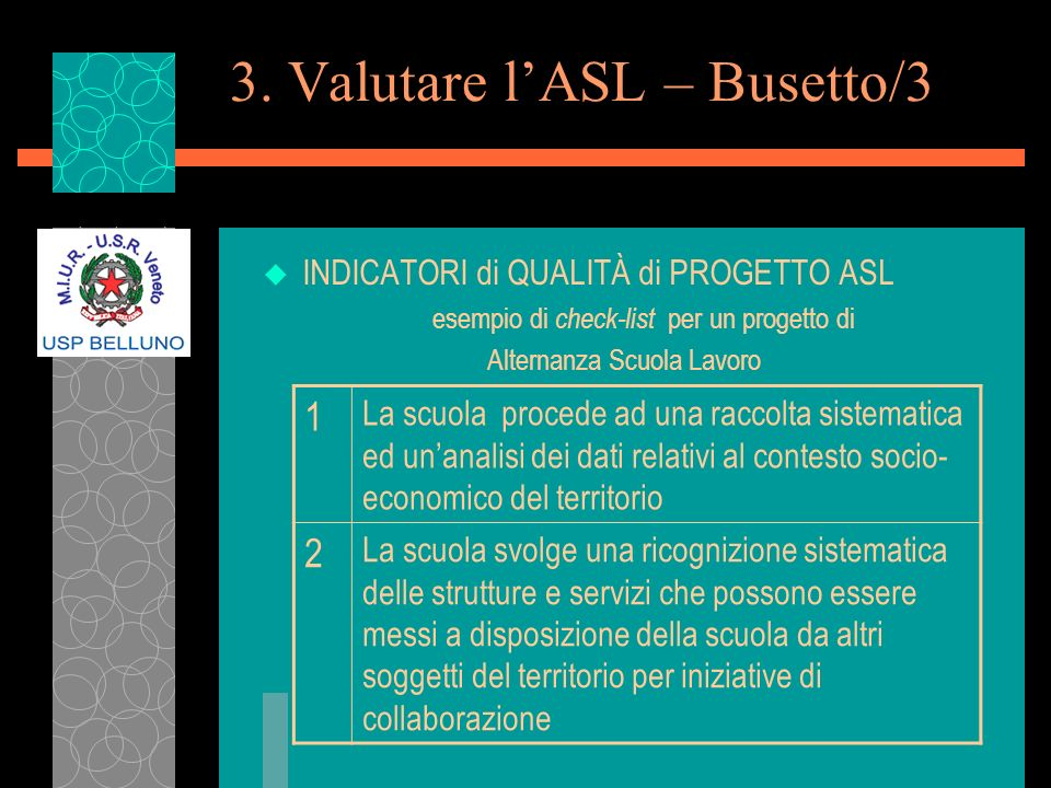 3. Valutare l'ASL – Busetto/3