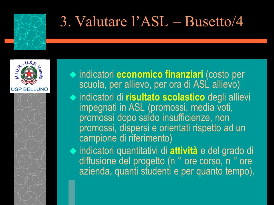 3. Valutare l'ASL – Busetto/4