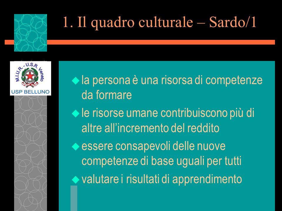 1. Il quadro culturale – Sardo/1