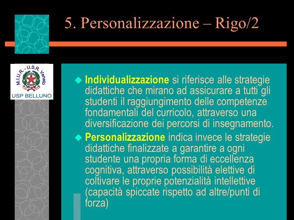 5. Personalizzazione – Rigo/2