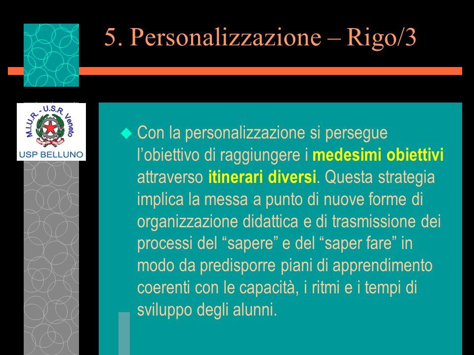 5. Personalizzazione – Rigo/3