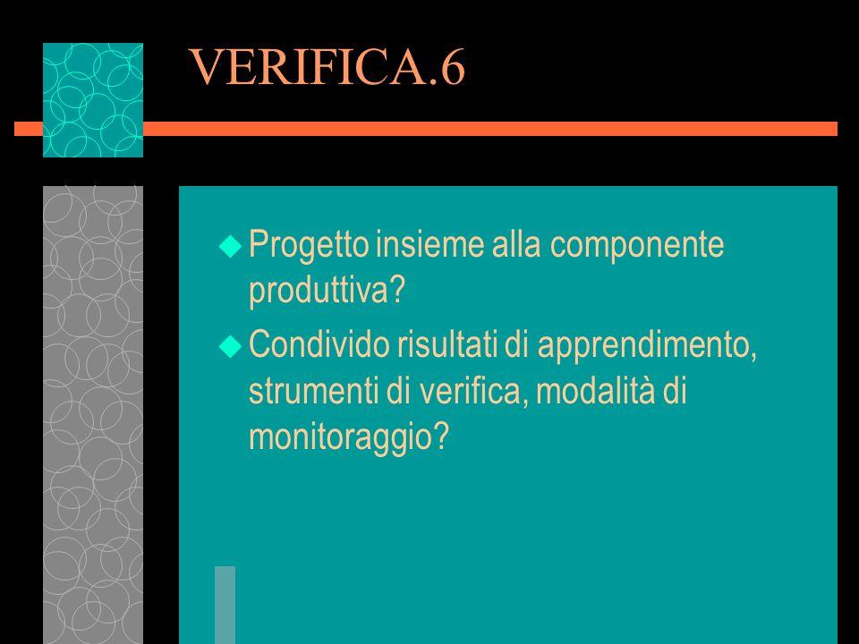 VERIFICA.6 Progetto insieme alla componente produttiva