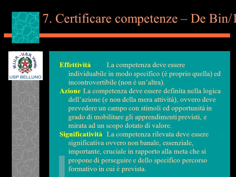 7. Certificare competenze – De Bin/1