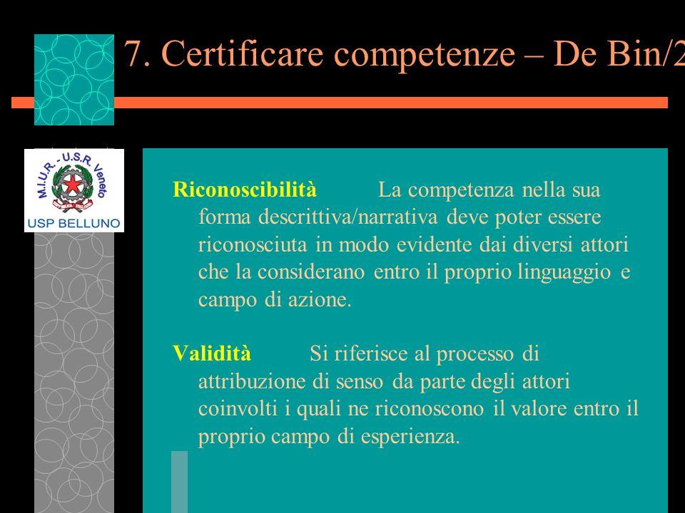 7. Certificare competenze – De Bin/2