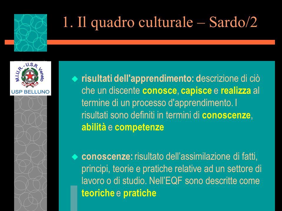 1. Il quadro culturale – Sardo/2
