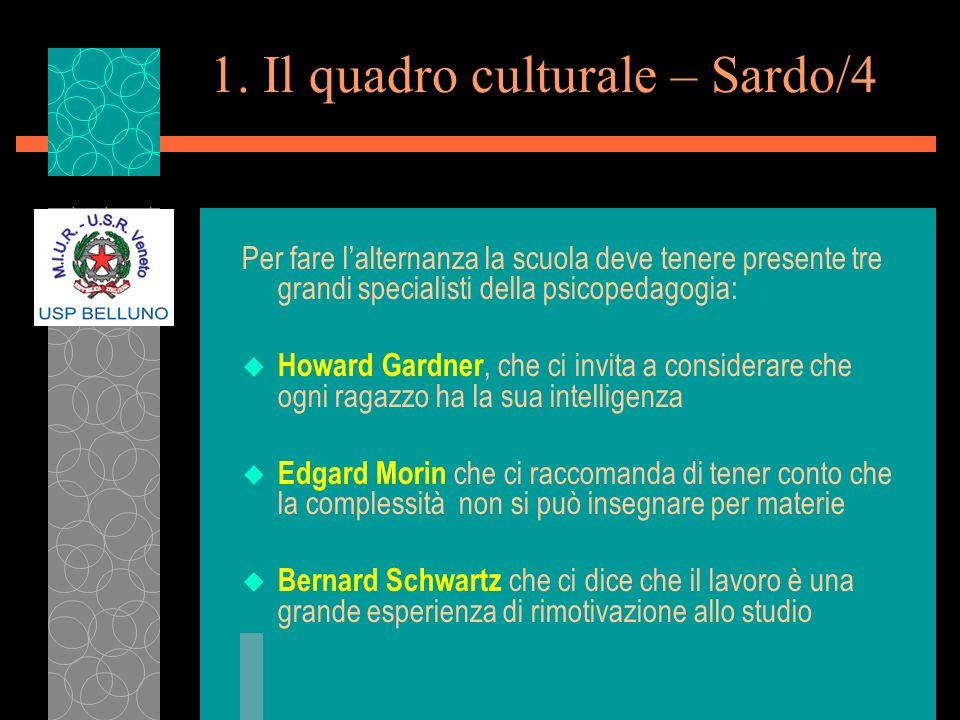 1. Il quadro culturale – Sardo/4