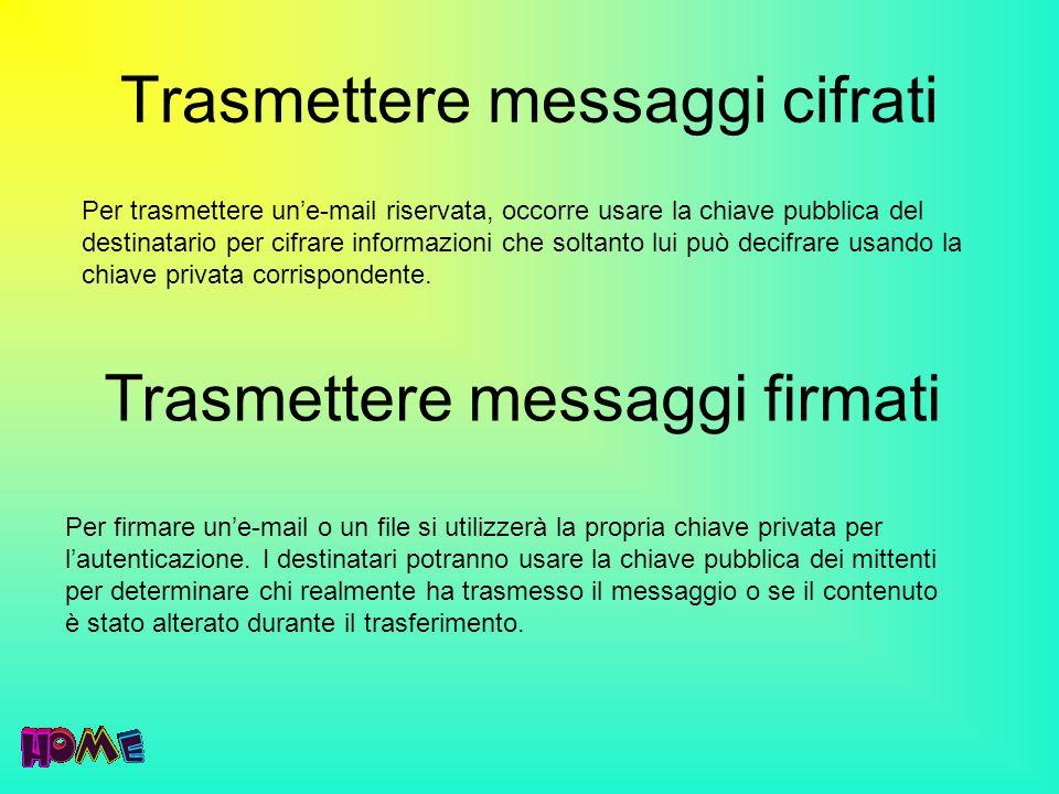Trasmettere messaggi cifrati