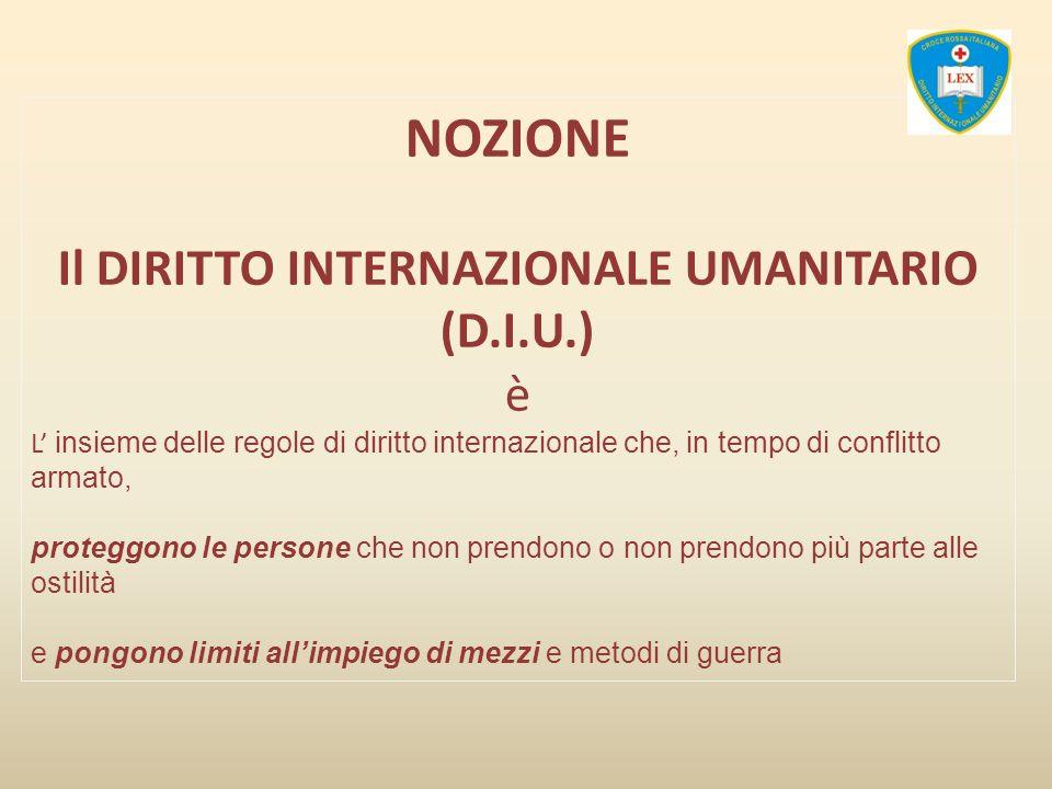 Il DIRITTO INTERNAZIONALE UMANITARIO (D.I.U.)